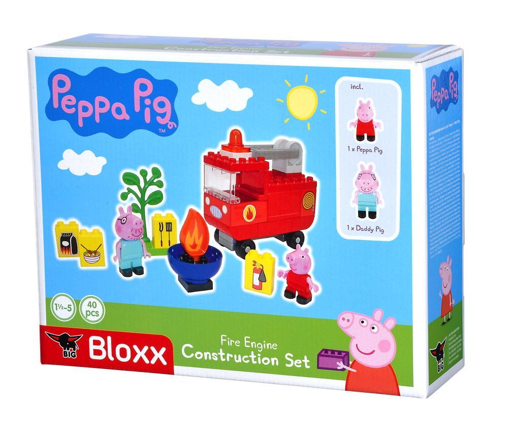 BIG Spielzeug Steckbausteine Bloxx Peppa Pig Feuerwehrauto 40 Teile 800057146