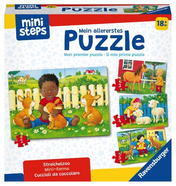 Ravensburger ministeps Spielzeug Puzzle Mein allererstes Puzzle Streichelzoo 04169