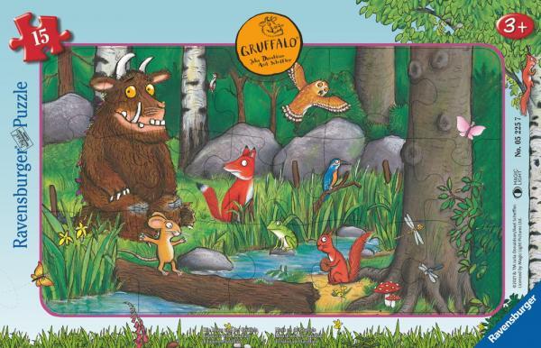 15 Teile Ravensburger Kinder Rahmen Puzzle Grüffelo Die Maus und der Grüffelo 05225