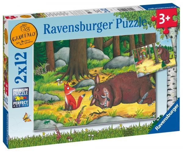 2 x 12 Teile Ravensburger Kinder Puzzle Grüffelo und die Tiere des Waldes 05226