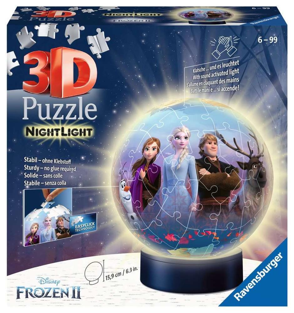 72 Teile Ravensburger 3D Puzzle Ball Nachtlicht Disney Frozen 2 11141