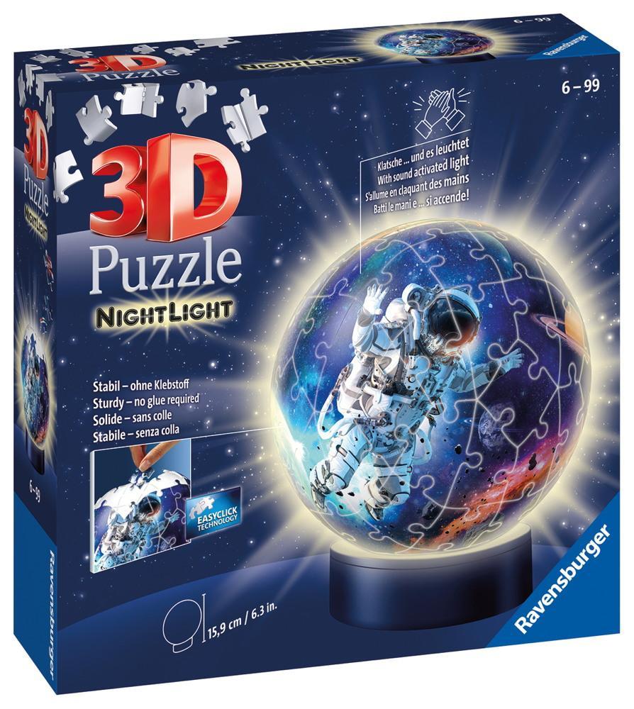 72 Teile Ravensburger 3D Puzzle Ball Nachtlicht Astronauten im Weltall 11264