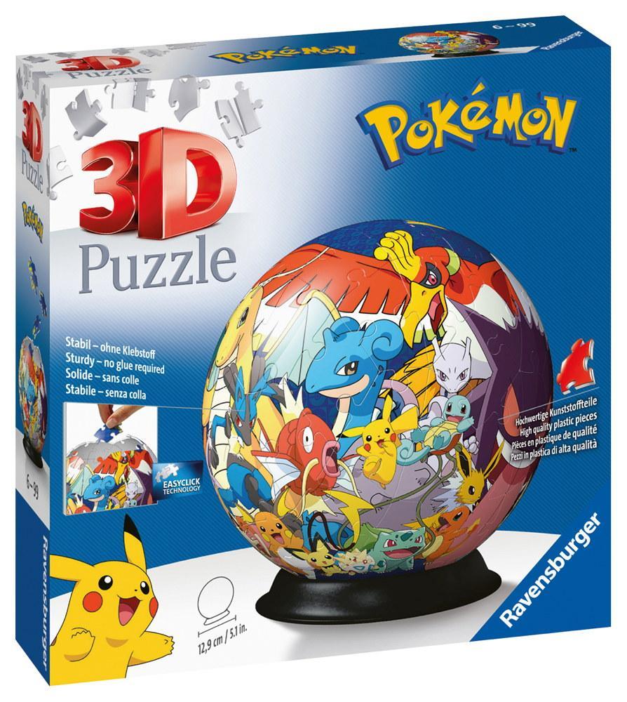72 Teile Ravensburger 3D Puzzle Ball Pokémon 11785