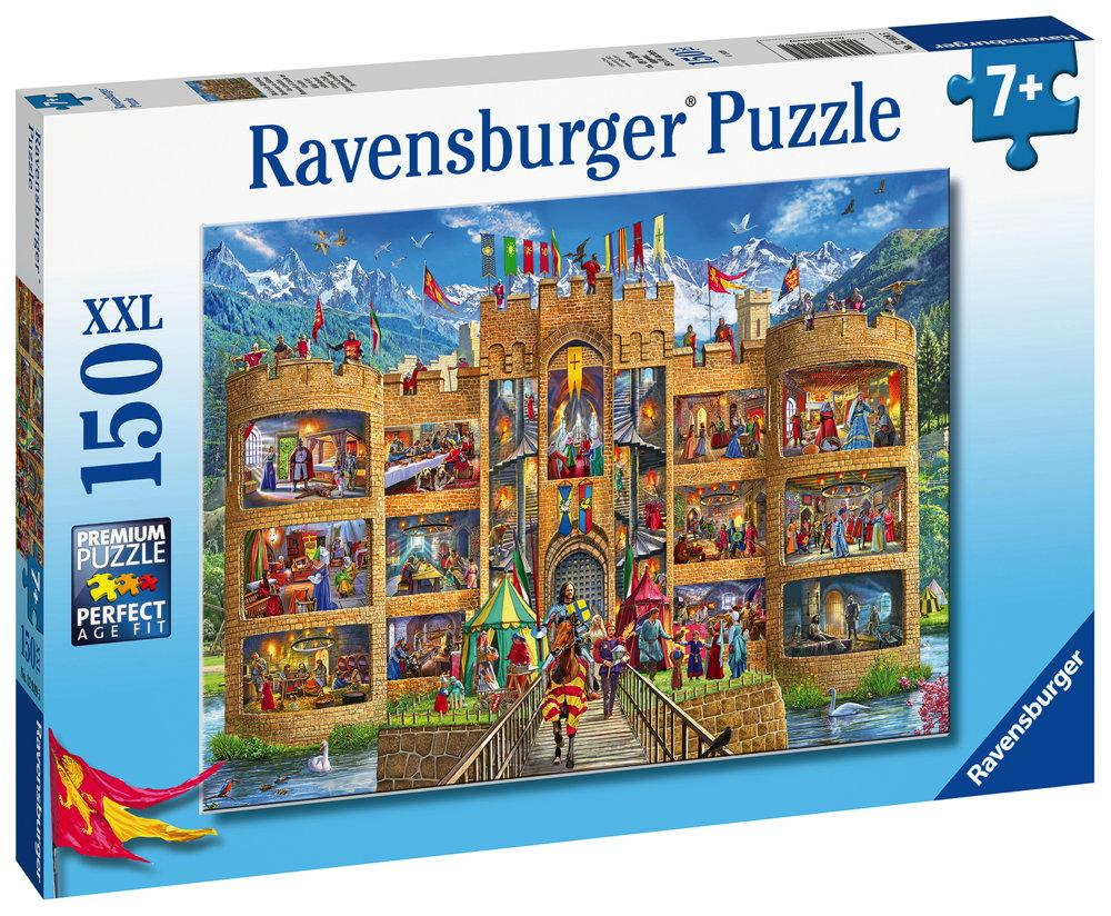 150 Teile Ravensburger Kinder Puzzle XXL Blick in die Ritterburg 12919