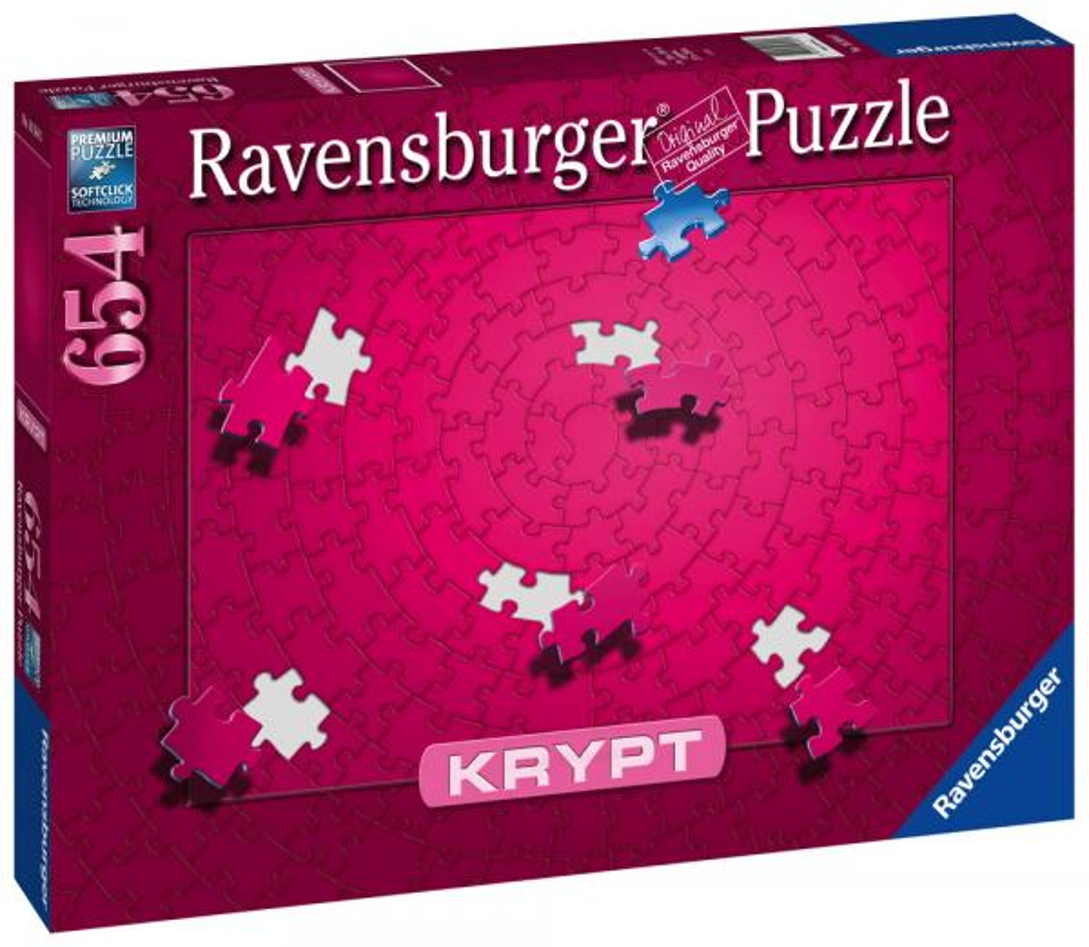 654 Teile Ravensburger Puzzle Krypt Pink 16564
