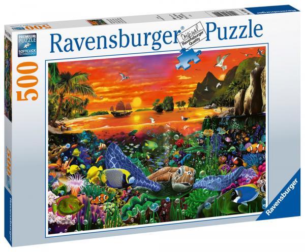 500 Teile Ravensburger Puzzle Schildkröte im Riff 16590