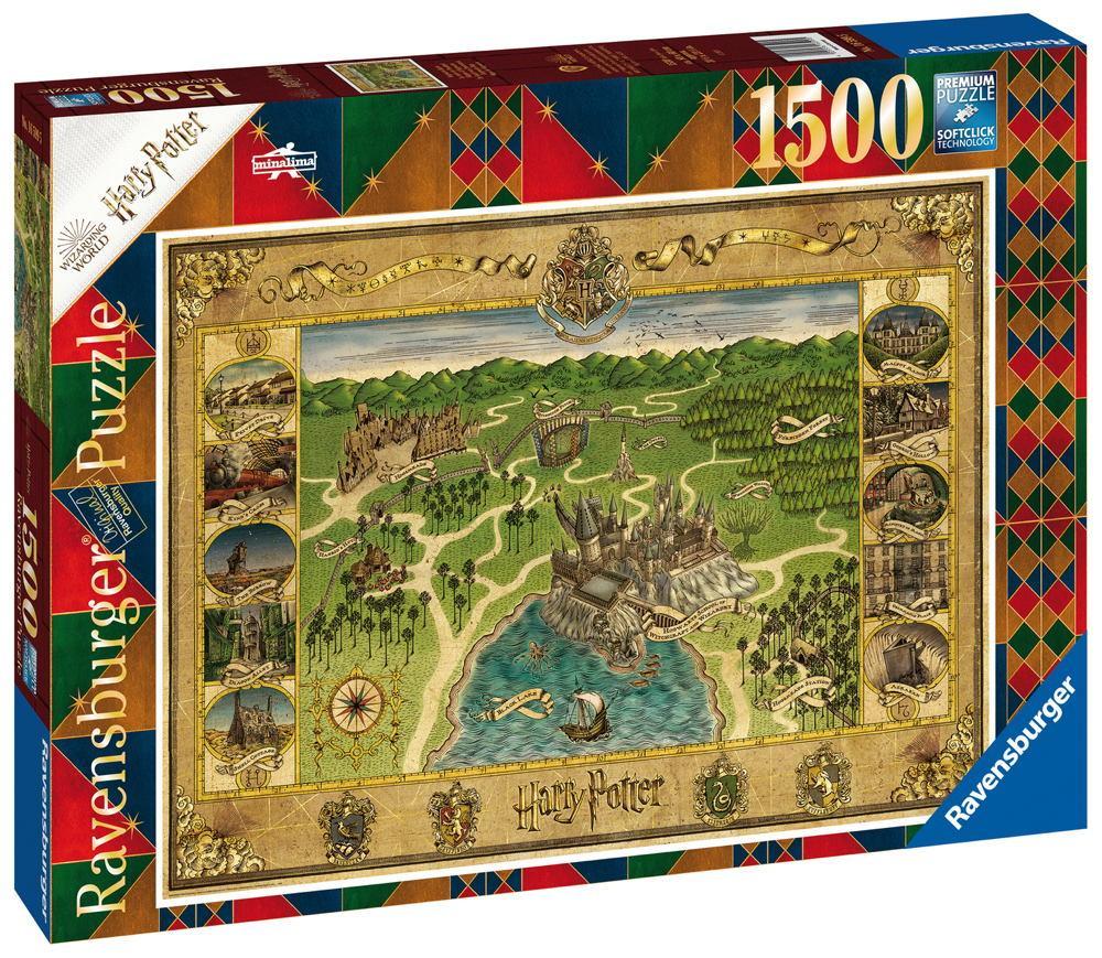 1500 Teile Ravensburger Puzzle Harry Potter Hogwarts Karte 16599