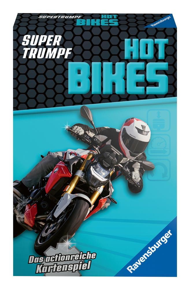 32 Blatt Ravensburger Kinder Kartenspiel Supertrumpf Hot Bikes 20693