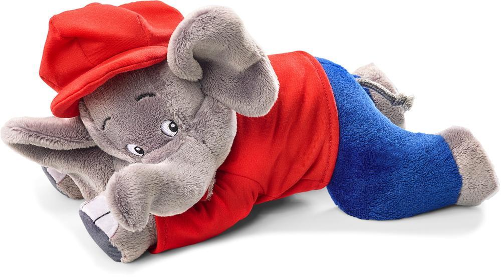 Schmidt Spiele Plüsch Stofftier Benjamin Blümchen Elefant, liegend 27 cm 42250