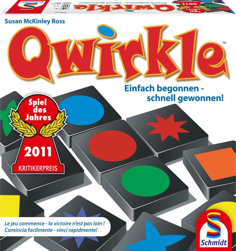 Schmidt Spiele Familienspiel Zuordnungsspiel Qwirkle 49014