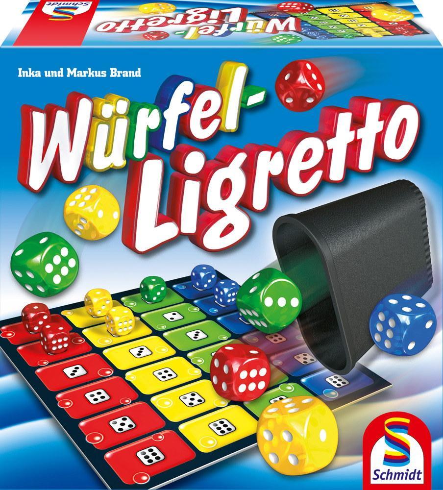 Schmidt Spiele Familienspiel Würfelspiel Würfel Ligretto 49611