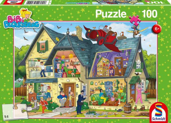 100 Teile Schmidt Spiele Kinder Puzzle Bibi Blocksberg Bei Bibi Blocksberg ist was los! 56151