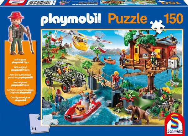 150 Teile Schmidt Spiele Kinder Puzzle Playmobil Baumhaus mit Figur 56164