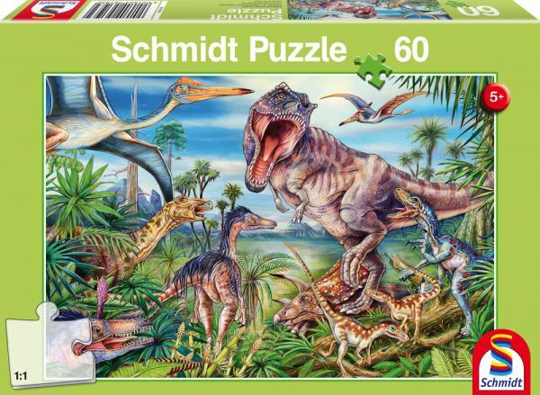60 Teile Schmidt Spiele Kinder Puzzle Bei den Dinosauriern 56193