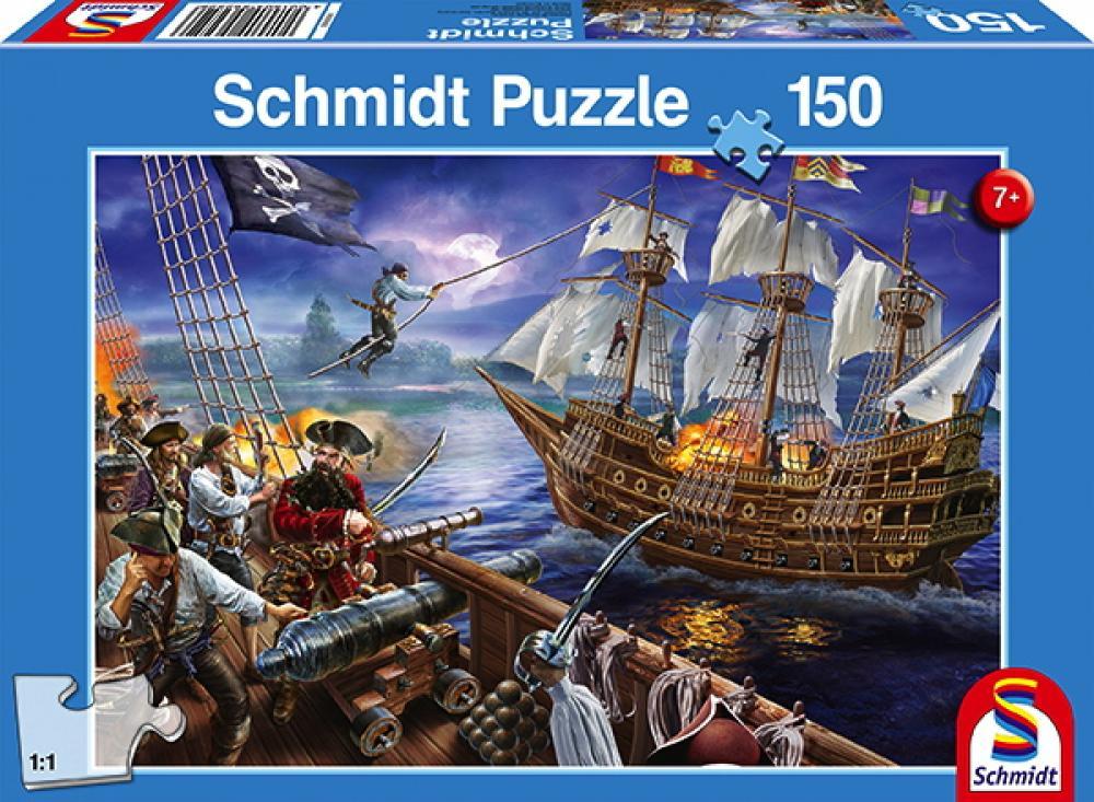 150 Teile Schmidt Spiele Kinder Puzzle Abenteuer mit den Piraten 56252