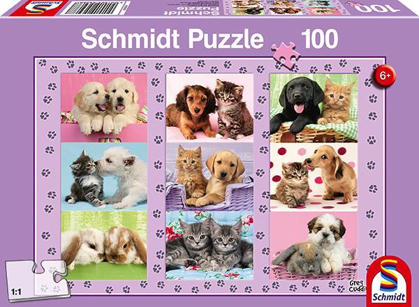 100 Teile Schmidt Spiele Kinder Puzzle Meine Tierfreunde 56268