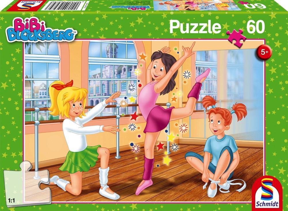 60 Teile Schmidt Spiele Kinder Puzzle Bibi Blocksberg In der Ballettschule 56279