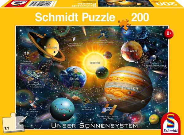 200 Teile Schmidt Spiele Kinder Puzzle Unser Sonnensystem 56308