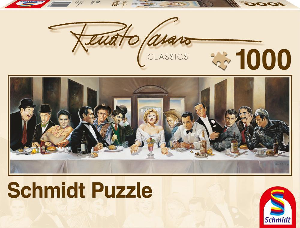 1000 Teile Schmidt Spiele Puzzle Panorama Renato Casaro Dinner der Berühmten 57291