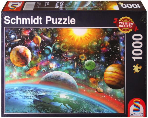 1000 Teile Schmidt Spiele Puzzle Weltall 58176