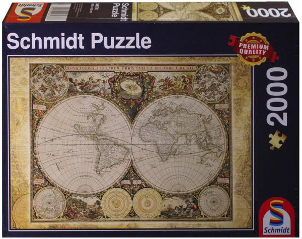 2000 Teile Schmidt Spiele Puzzle Historische Weltkarte 58178