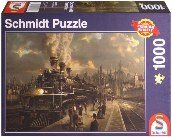 1000 Teile Schmidt Spiele Puzzle Lokomotive 58206