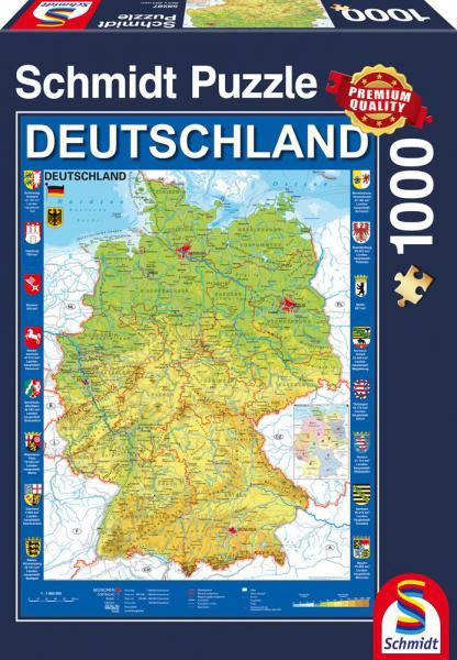 1000 Teile Schmidt Spiele Puzzle Deutschlandkarte 58287