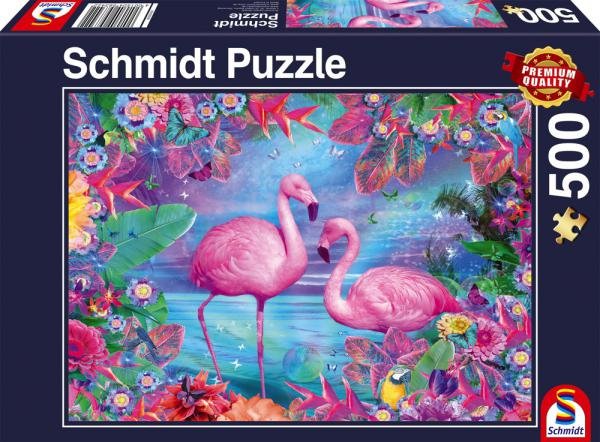 500 Teile Schmidt Spiele Puzzle Flamingos 58342