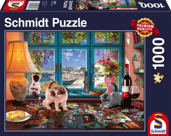 1000 Teile Schmidt Spiele Puzzle Am Puzzletisch 58344