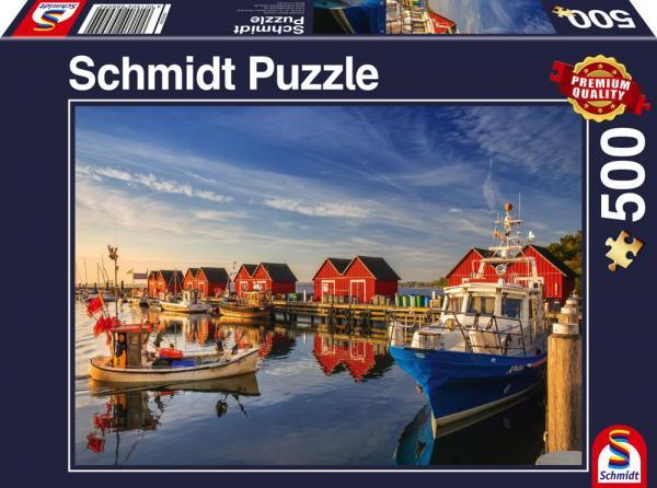500 Teile Schmidt Spiele Puzzle Fischereihafen Weiße Wiek 58955