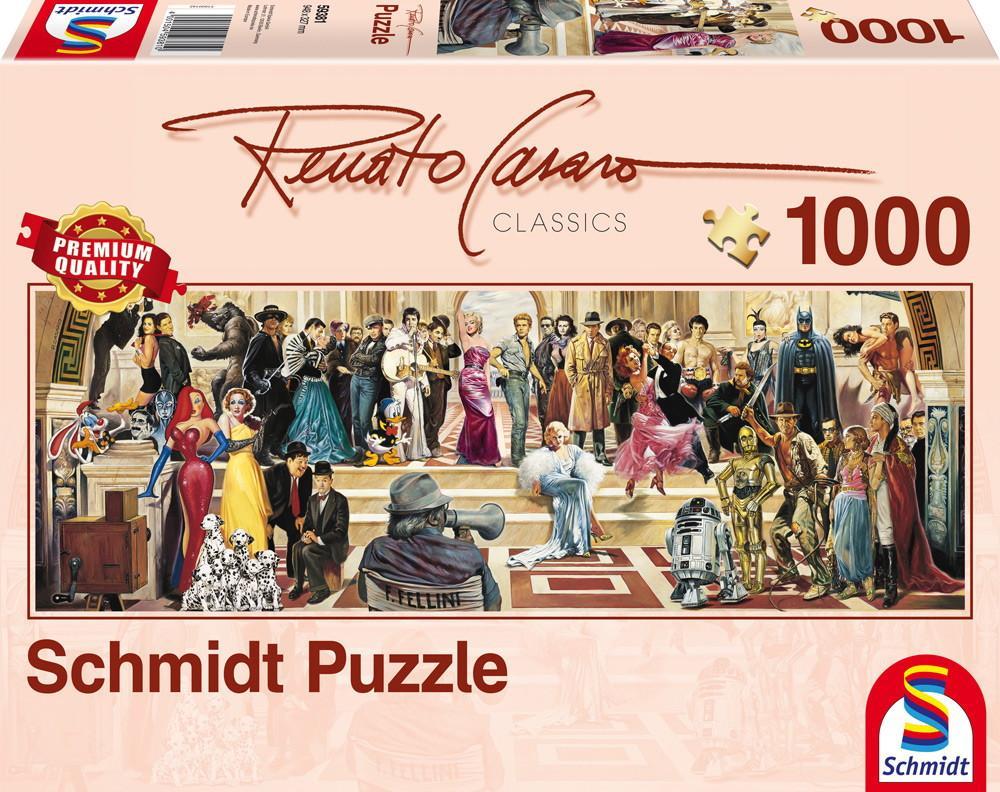 1000 Teile Schmidt Spiele Puzzle Panorama Renato Casaro 100 Jahre Film 59381