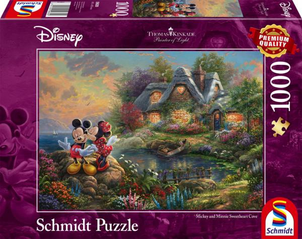 1000 Teile Schmidt Spiele Puzzle Thomas Kinkade Disney, Sweethearts Mickey & Minnie 59639