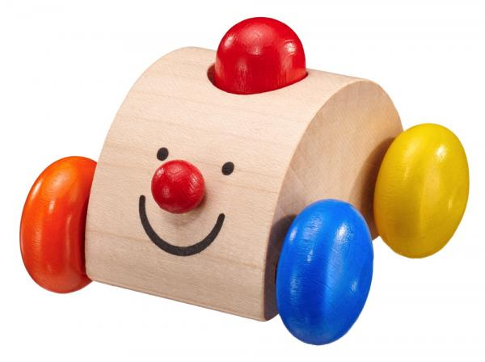 Selecta Babywelt Holz Rollspielzeug Sonato Auto Quietsche krabbeln 61039