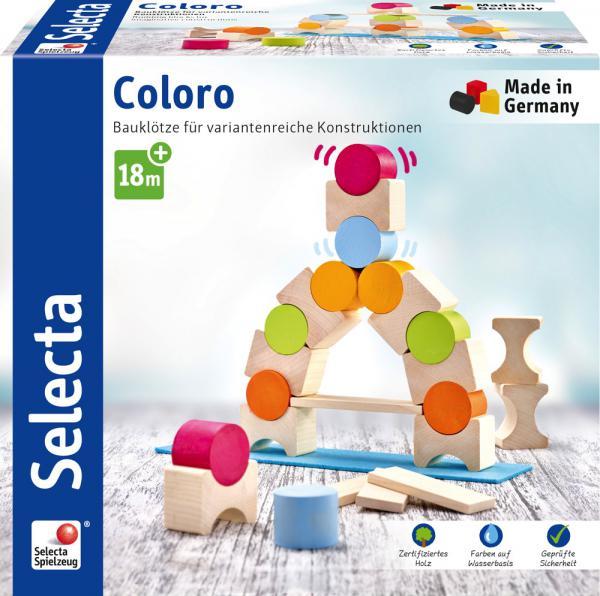 Selecta Kleinkindwelt Holz Stapelspielzeug Coloro Bauklötze 25 Teile 62067