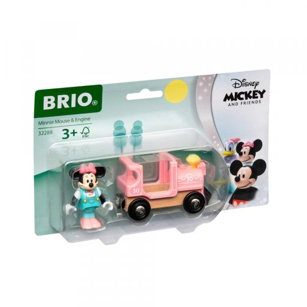 Brio World Eisenbahn Lok Minnie Maus Lokomotive 2 Teile 32288