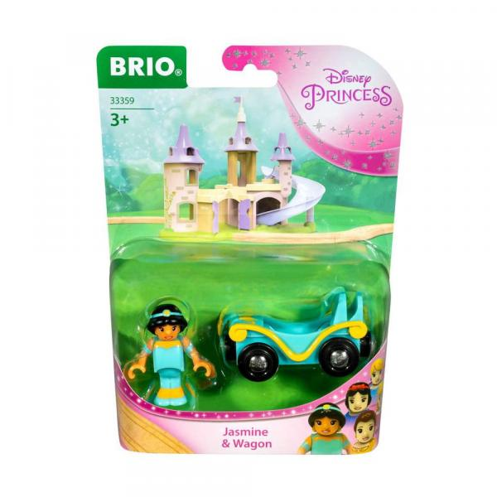 Brio World Eisenbahn Waggon Disney Princess Jasmin mit Waggon 2 Teile 33359