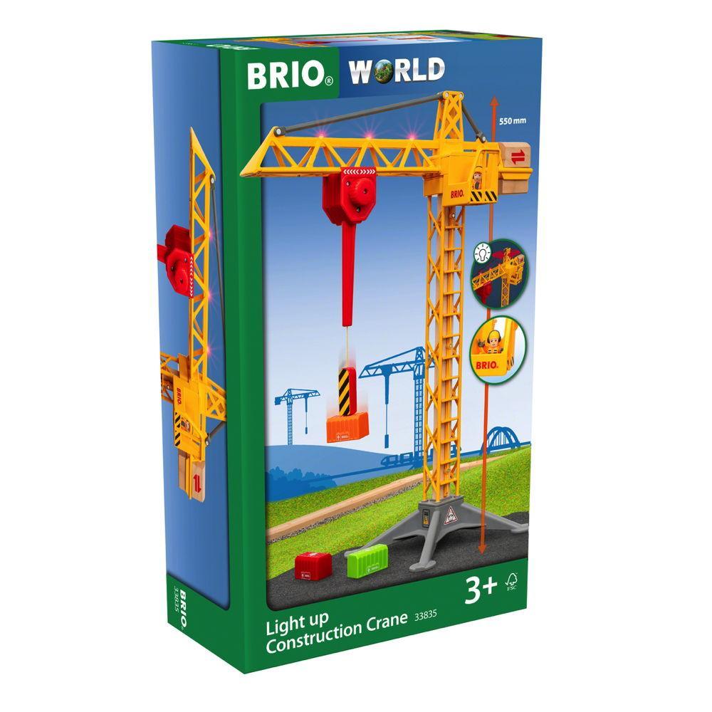 Brio World Eisenbahn Zubehör Großer Baukran mit Licht 5 Teile 33835