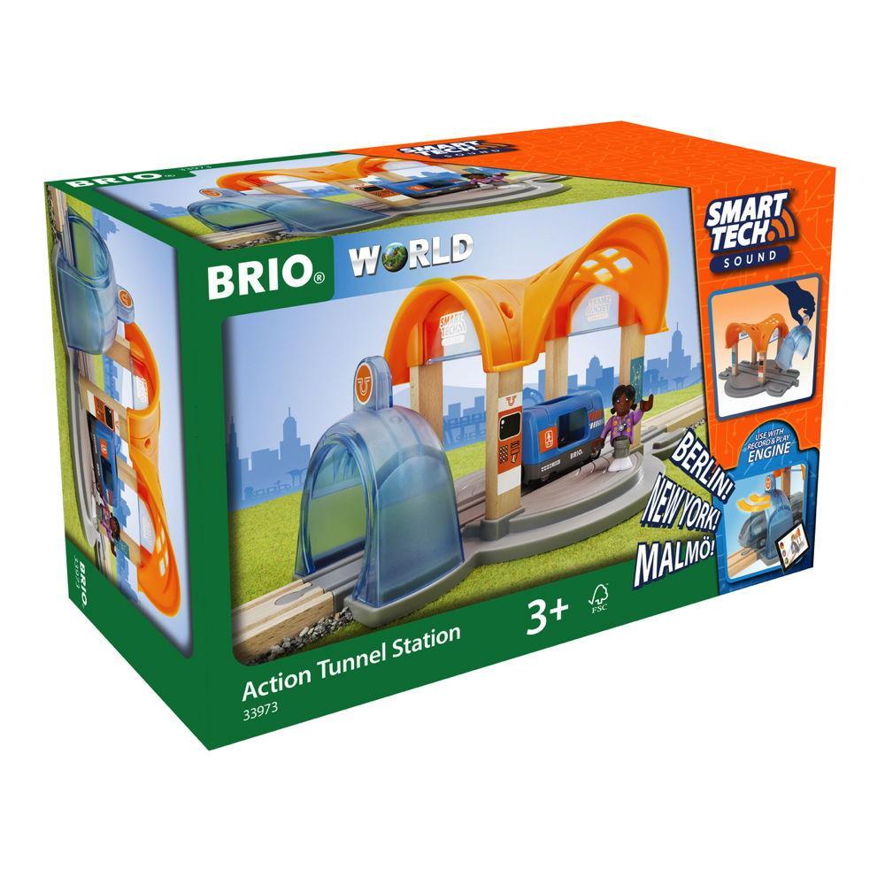 Brio World Eisenbahn Zubehör Smart Tech Sound Bahnhof Action Tunnel 4 Teile 33973