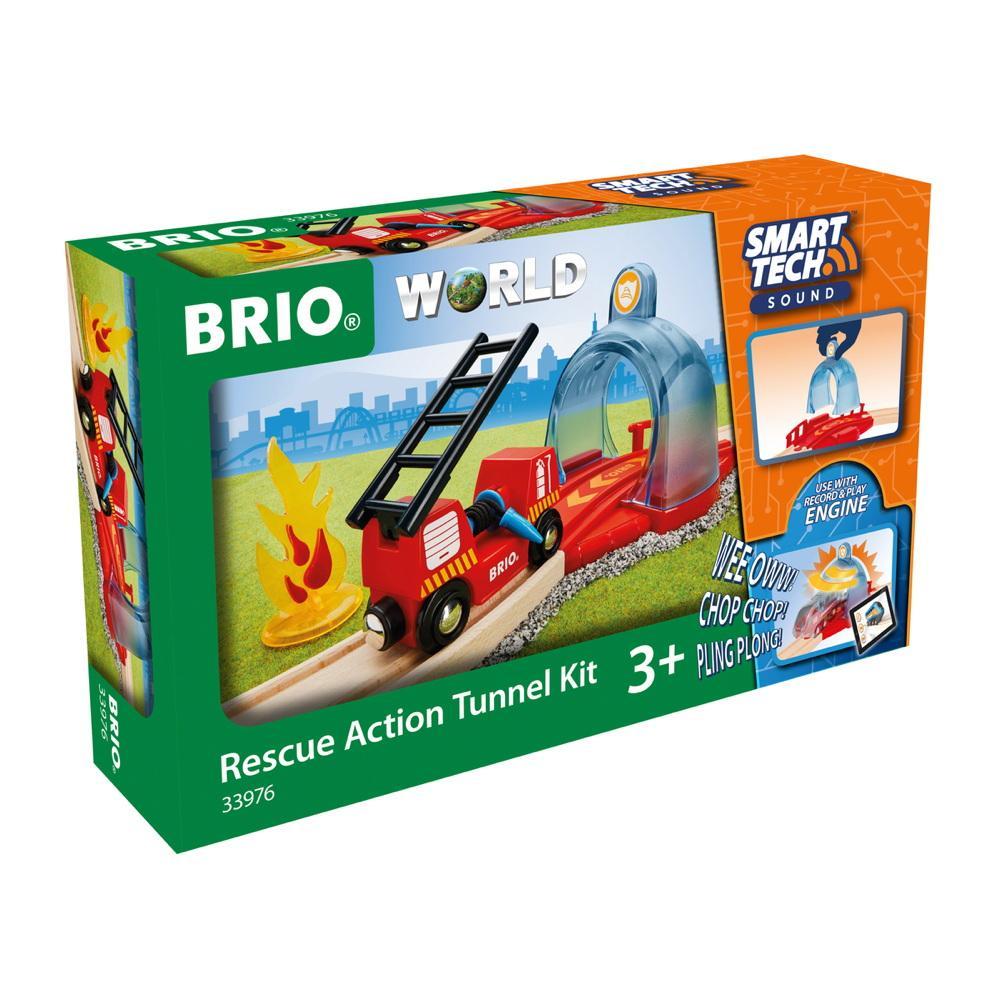 Brio World Eisenbahn Zubehör Smart Tech Sound Feuerwehreinsatz 4 Teile 33976