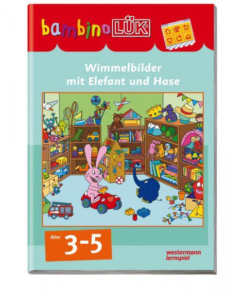 LÜK bambinoLÜK Buch Wimmelbilder mit Elefant und Hase ab 3 Jahren 7671