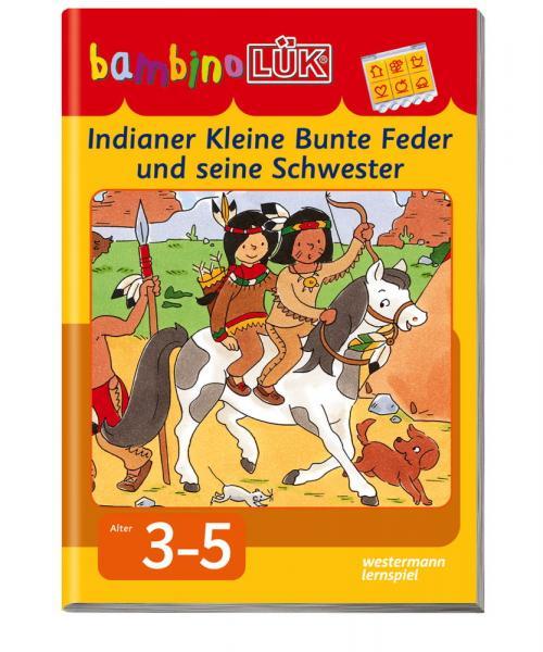 LÜK bambinoLÜK Buch Indianer Kleine Bunte Feder und seine Schwester ab 3 Jahren 7884