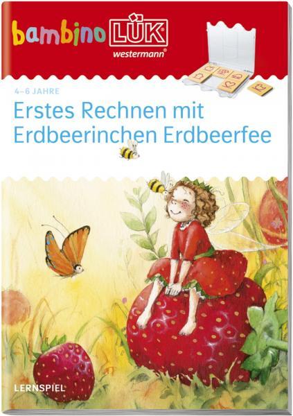 LÜK bambinoLÜK Buch Erstes Rechnen mit Erdbeerinchen Erdbeerfee ab 4 Jahren 247897