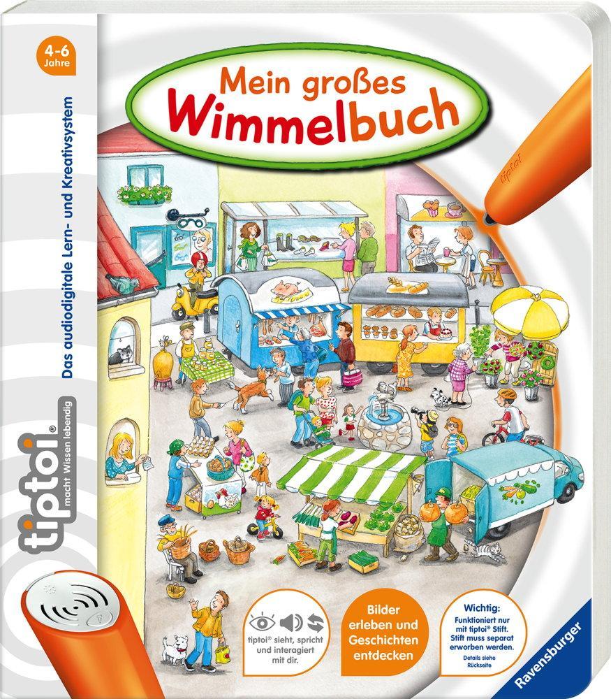 Ravensburger tiptoi Buch Bilderbuch Mein großes Wimmelbuch 44567