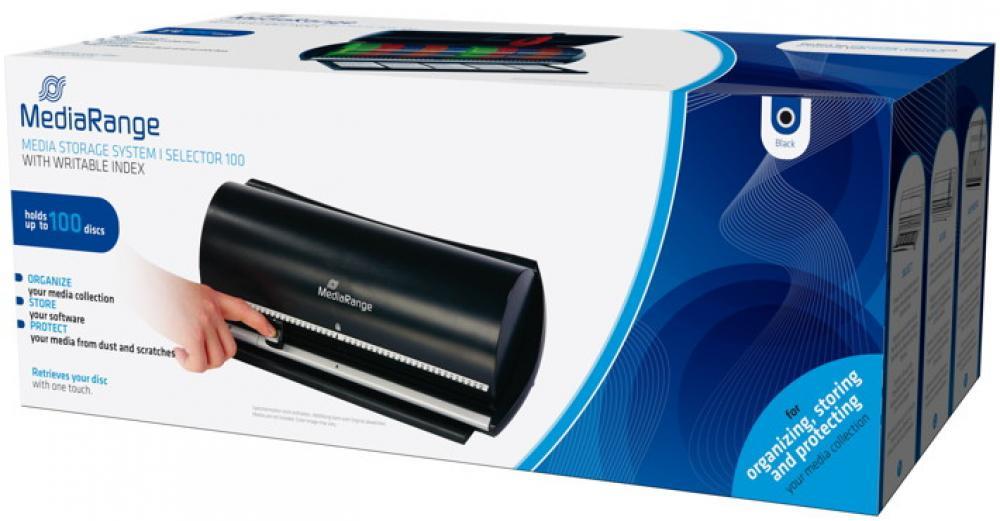 Mediarange Archivierungssystem Selector für 100 BD / CD / DVD BOX81