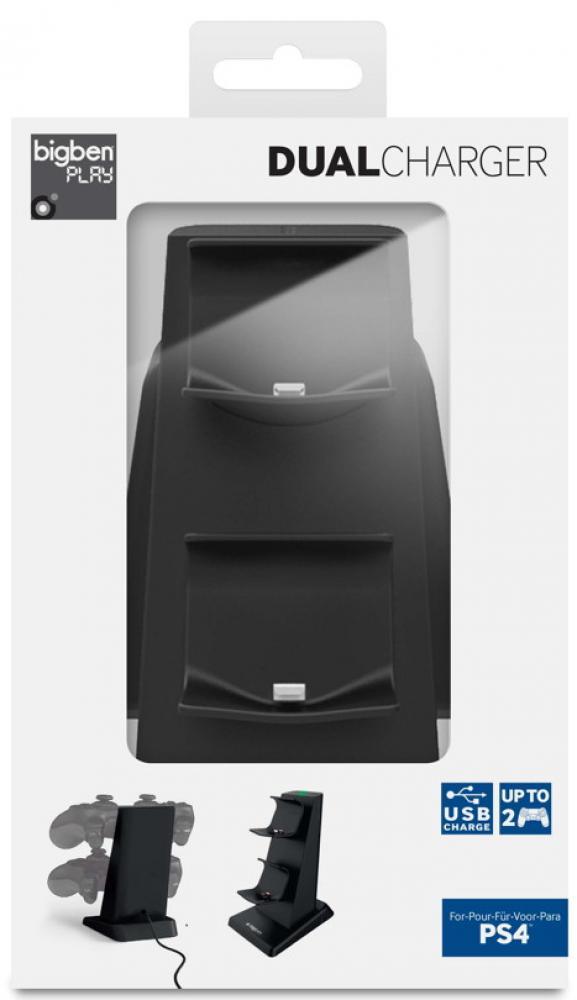Bigben Playstation 4 USB Ladestation für 2 Controller Dual Charger PS4 BB331400