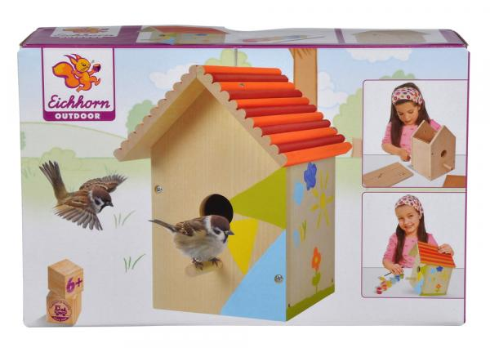 Eichhorn Outdoor Spielzeug Garten Vogelhaus zum bemalen 100004581
