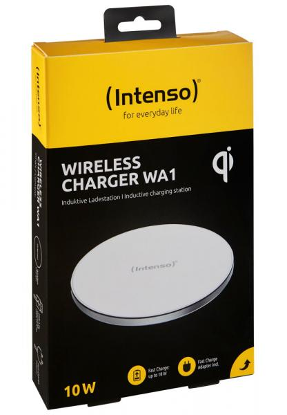 Intenso Wireless Charger WA1 Output bis 10W inkl. Fast Charge Adapter weiß 7410512