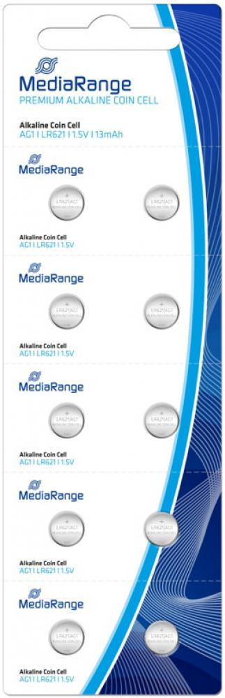 10 Mediarange AG1 / V 364 / LR621 Alkaline Knopfzelle Batterien im 10er Blister MRBAT110